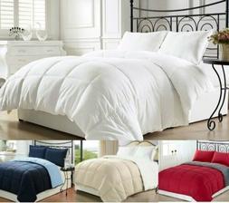 Luxury Reversible Premium Goose Down Alternative Comforter -