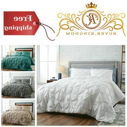 Gorgeous Pintuck Comforter 3 Piece Set With Shams 100% Cotto