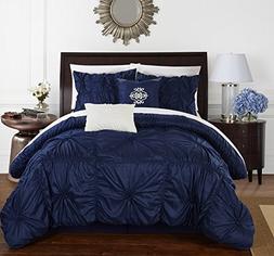 Chic Home Halpert 6 Piece Comforter Set Floral Pinch Pleated