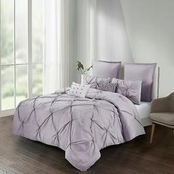 Harper Solid Comforter Set in Lavender
