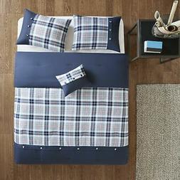 Comfort Spaces Harvey 3 Piece Comforter Set Plaid Perfect fo