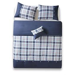 Comfort Spaces - Harvey Comforter Set - 3 Piece - Blue - Mul