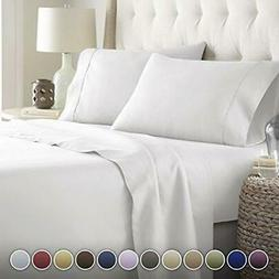HC Hotel Collection -  Luxury Comfort Bed Sheets Set, Deep P