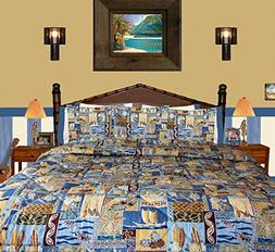 "Hibiscus Tropical Flower ""Sunset Beach"" Bedding By Dean Mill"