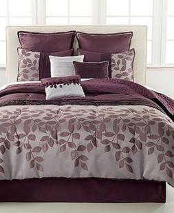 JLA Home Bedding Chantilly 10 Piece FULL Comforter Set Plum