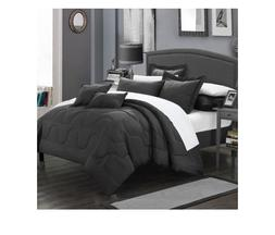 Chic Home Design Donna 7 Piece Comforter Set, Full / Queen