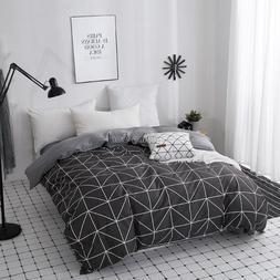 Home Textile Modern Geometric Triangle Duvet Cover with Zipp