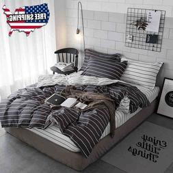 Horizontal Gray Striped Comforter Set Real Simple Bedding Se