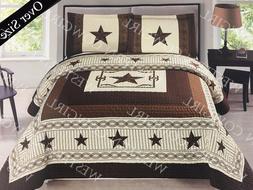 Horse Shoe Pistol Gun Star Western Quilt Bedspread Comforter