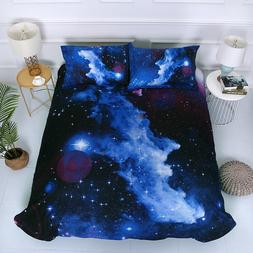Hot 3D Galaxy Bedding Set Universe Outer Space Duvet Cover C