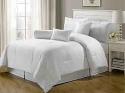 Chezmoi Collection 7-pieces Hotel Dobby Stripe Comforter Set