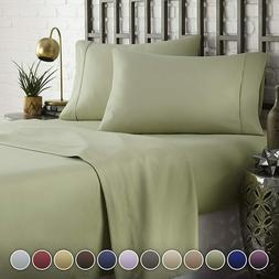 HC COLLECTION Hotel Luxury Comfort Bed Sheets Set 1800 Serie