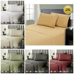 Hotel Luxury Comfort Bed Sheets Set Deep Pockets Hypoallerge