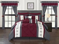 Chic Home Icaria 20 Piece Comforter Set Color Block Pinch Pl