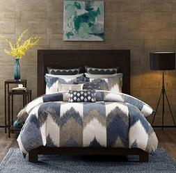Ink+Ivy Alpine King/Cal King Size Bed Comforter Set - Navy,