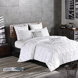 Ink+Ivy Masie King/Cal King Size Bed Comforter Set - White,