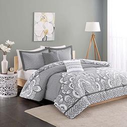 Isabella Comforter Set, Twin XL, Gray