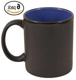 ITI Ceramic C-Handle Hilo Coffee Mugs with Pan Scraper, 11 O