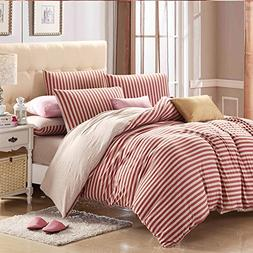 PURE ERA Duvet Cover Set Jersey Knit Cotton 3 Piece Soft Com