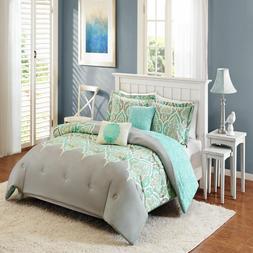 Kashmir 5-Piece Bedding Comforter Set Grey Full/Queen Better