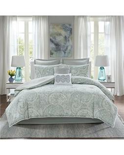 Comfort Spaces Kashmir Comforter Set Paisley Pattern 8 Piece