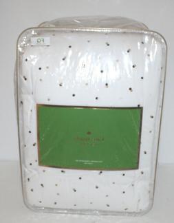 Kate Spade Confetti Dots Comforter Set, Full/Queen 3 Pcs Whi