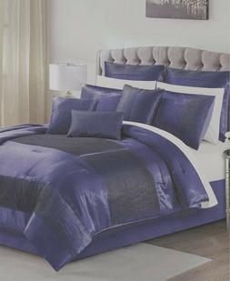 Hallmart Collectibles Kellen 14 PC  King Comforter Set Sapph