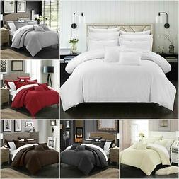Chic Home Khaya 7 Piece Jacquard Comforter Set Embossed Stri