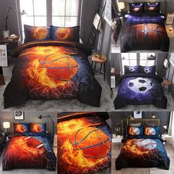 Kids Boys Comforter Bedding Set Teenager Quilt Full Size Spo