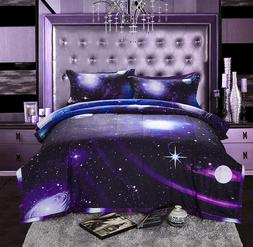 Kids Galaxy Theme Queen Size Comforter Set Girls Soft with 2