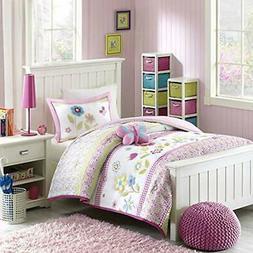 Mizone Kids Spring Bloom 3 Piece Comforter Set, Multicolor,