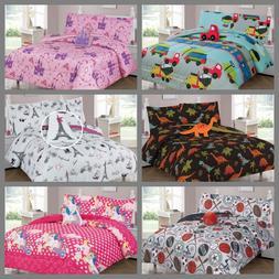 Kids Teens Twin / Full Comforter Bedroom Reversible Complete