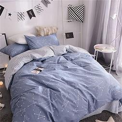 VM VOUGEMARKET Kids Duvet Cover Set Twin Blue,Premium Cotton