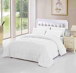 Unique Home King Comforter Duvet Insert White All Season Alt