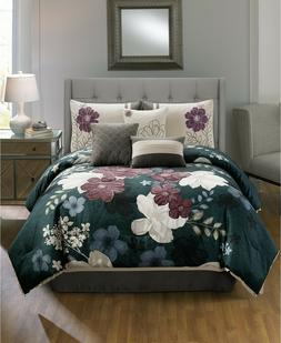Hallmart Collectibles King Comforter Set Sofina 7-Pc. Multi-