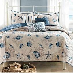 King Size Bedding Beach Theme Comforter Set Ocean Seashell C