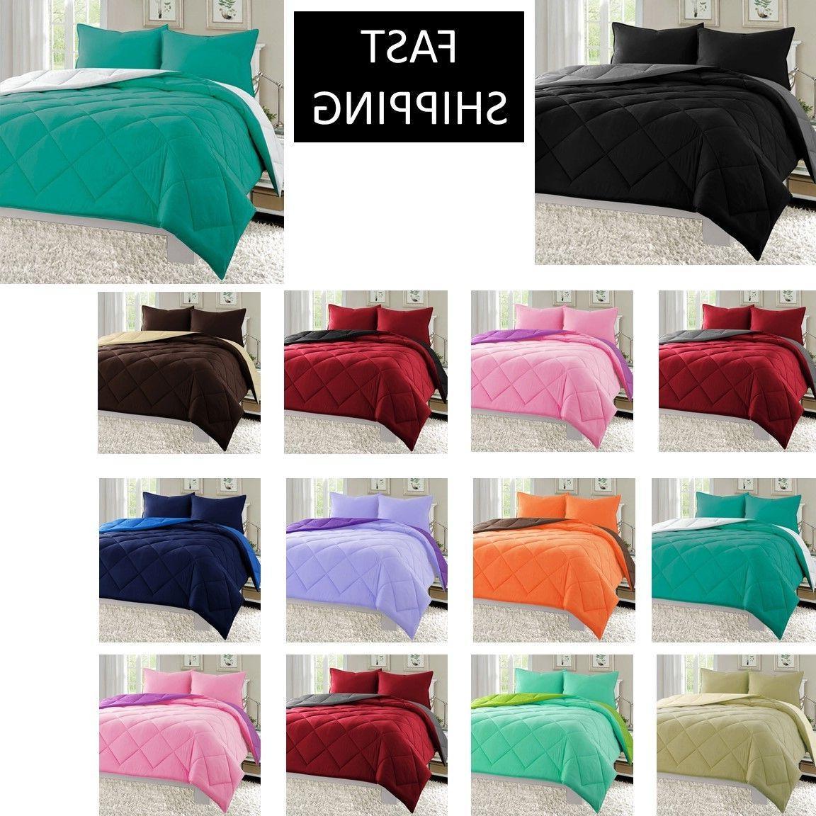 reversible goose down alternative comforter sham 3