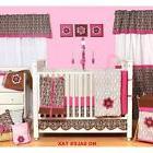 10 Pc Nursery-in-a-Bag, Crib Bedding Set, Sheet, Skirt Ruffl