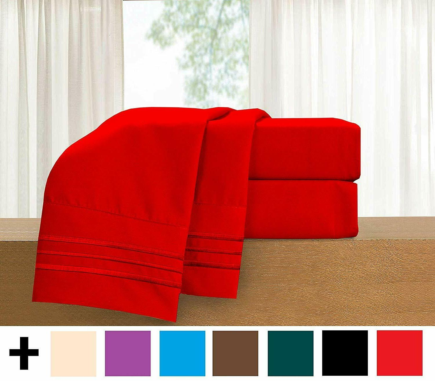 Elegant Comfort Count Egyptian Twin Sheet -