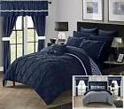 Chic Home 20 Pcs Bedroom Pleated Design Reversible Chevron P