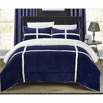 3 piece chiron mink sherpa lined comforter