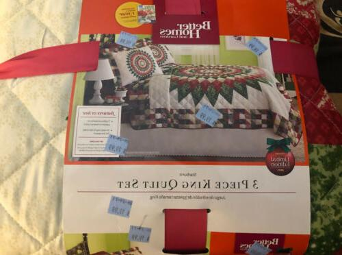 3 piece king quilt set
