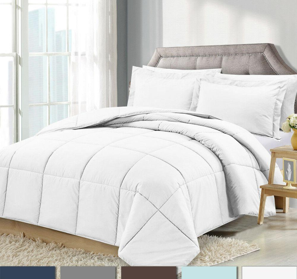 3 piece reversible down alternative comforter set