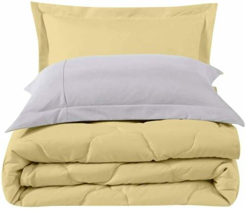 Chezmoi Collection 3-Piece Soft Comforter