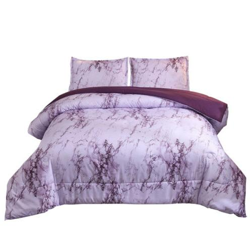 3 Marble Quilt Comforter Zipper Printed
