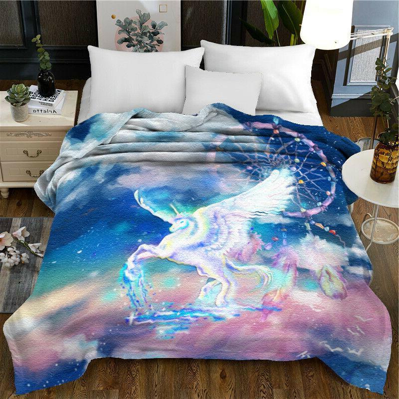 3d dreamcatcher unicorn soft quilt comforter bedding