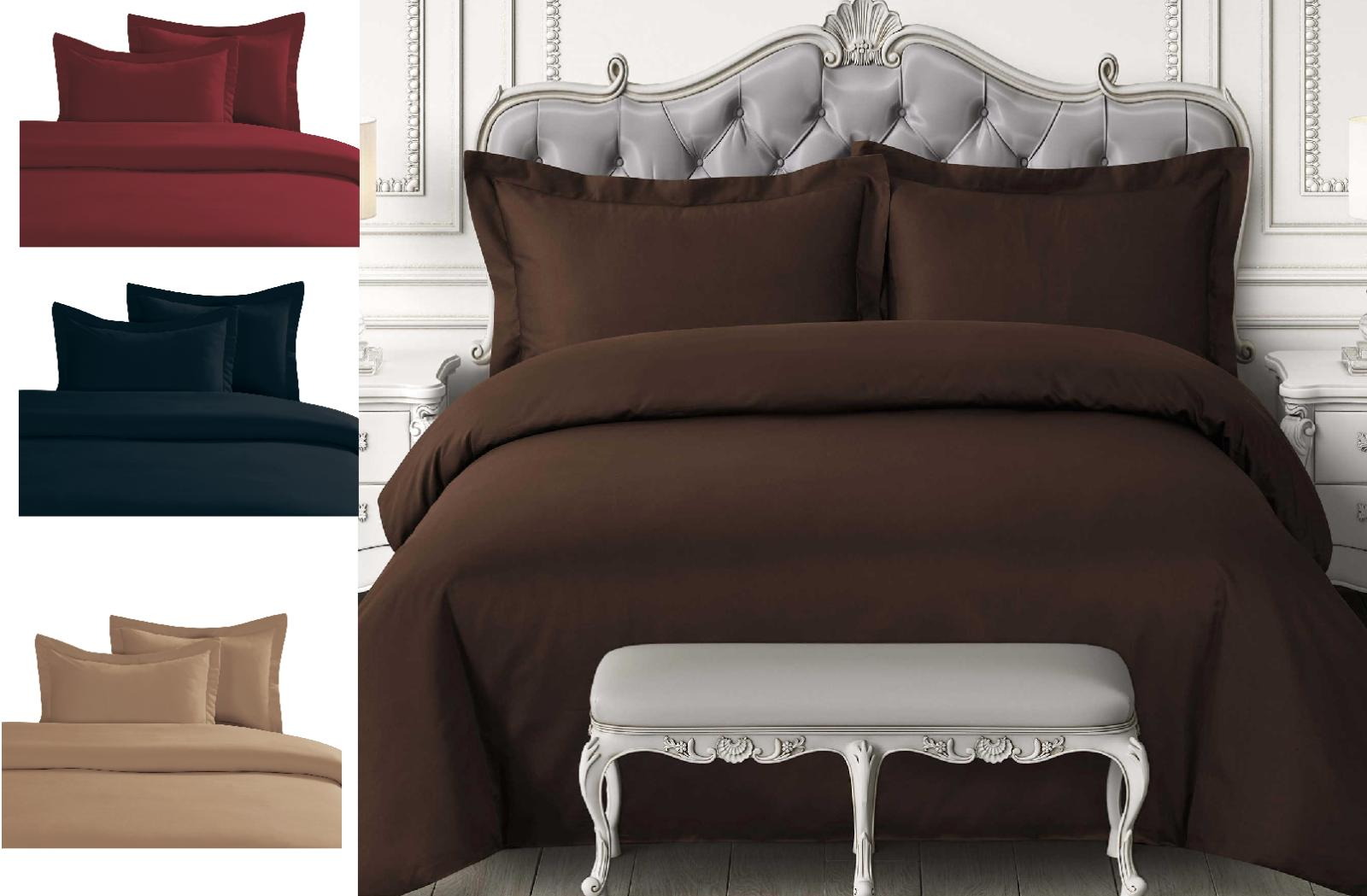 3pc set solid chic duvet comforter bed