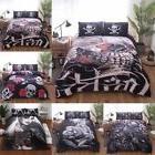 3Pcs Hot Halloween 3D Skull Bedding Set Quilt Cover & Pillow