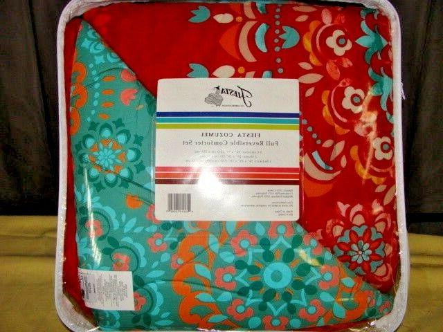 Fiesta 4 Piece Cozumel Comforter Set - with Coordinating Bed