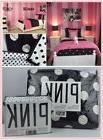 4pcs SET Victoria's Secret Pink BLACK WHITE polka dots COMFO